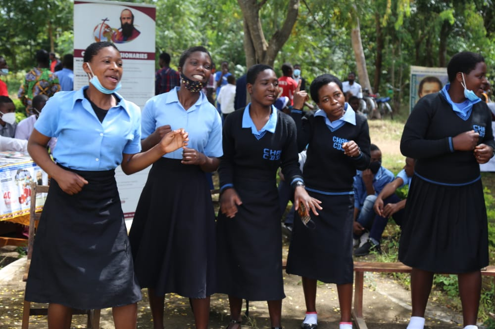 Youth at National Vocations Day 2021 at Mtendere Parish, Diocese of Dedza