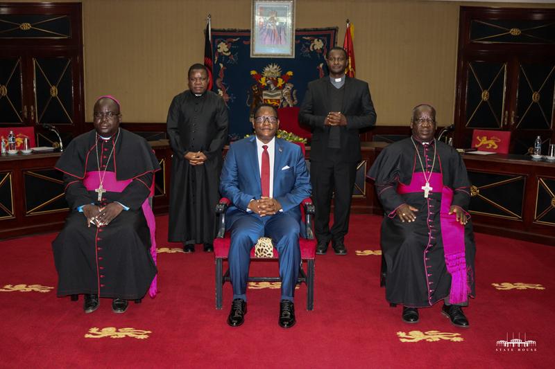 Bishops with President Chakwera